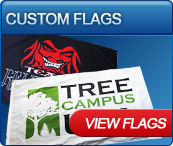 screen printed flags for business and personal use