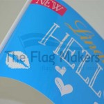 Glossy paper flag