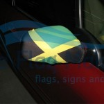 Car mirror socks World flags