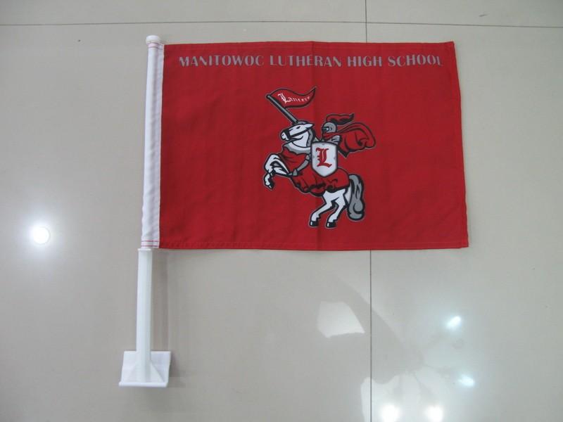 Mantowoc Lutheran High School Car Flag