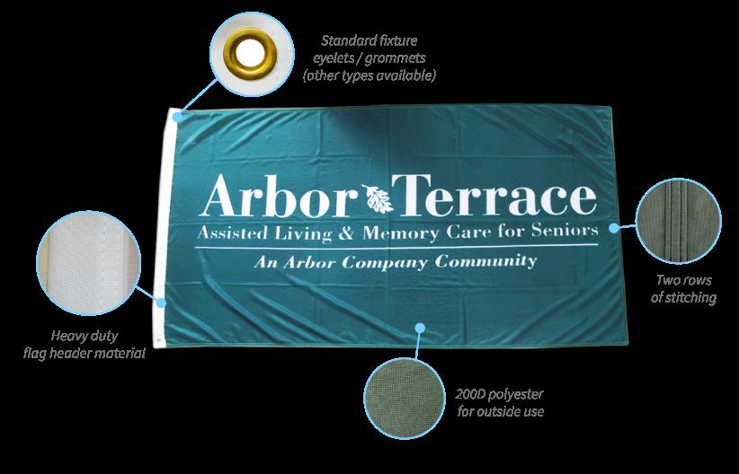 arbor terrace custom flag