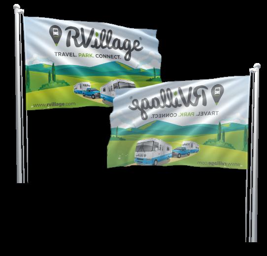RV Village custom flags