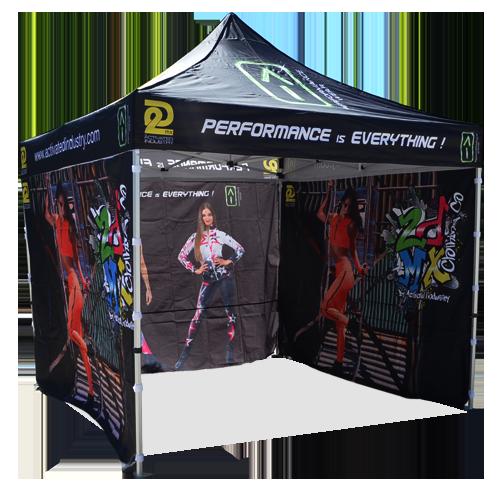 full printed frame tent