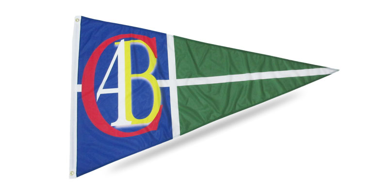 Custom pennant flag AB