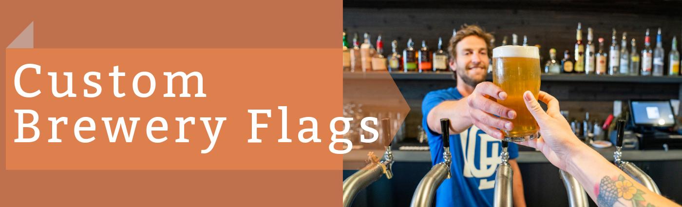 custom brewery Flags