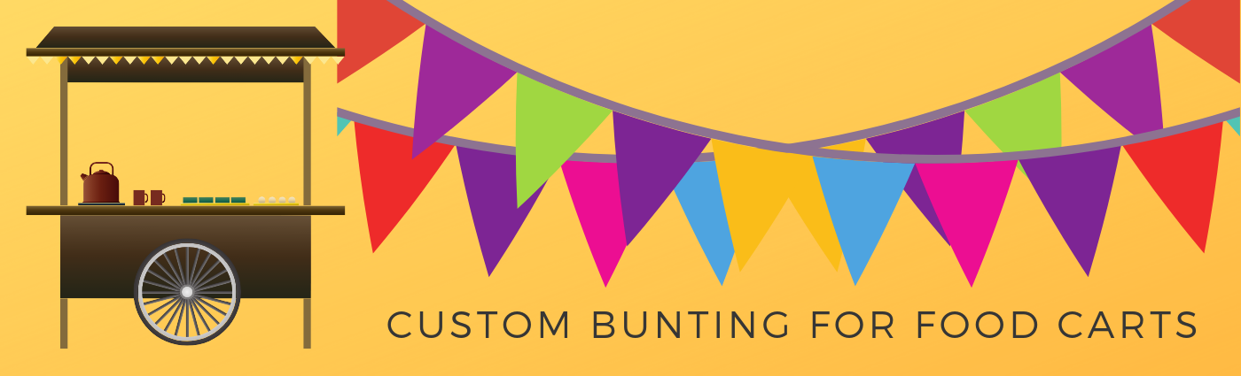 Customizable Bunting for Your Food Cart