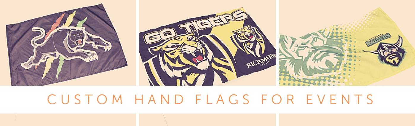 Custom Hand Flags Banners for events and concerts