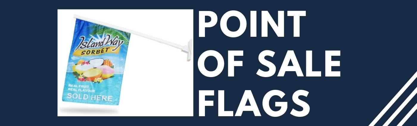 point of sale custom flag